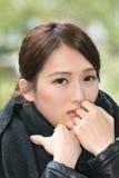Elegant Asian woman of sadness Royalty Free Stock Photography