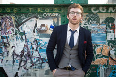 Elegant Attractive Fashion Hipster Man Lifestyle Royalty Free Stock Images