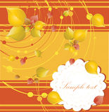 Elegant autumn background with place for your text Stock Images