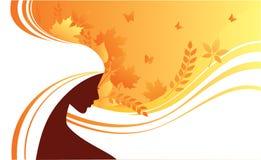 Elegant autumn girl. Vector illustration Royalty Free Stock Photos