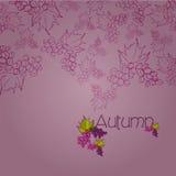 Elegant autumn illustrated background Royalty Free Stock Image