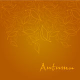 Elegant autumn illustrated background Royalty Free Stock Photos