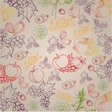 Elegant autumn illustrated background Royalty Free Stock Photography