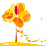 Elegant autumn illustration Royalty Free Stock Images
