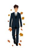 Elegant autumn man isolated Royalty Free Stock Images