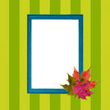 Elegant autumnal frame. Royalty Free Stock Images