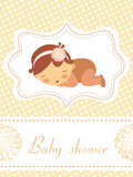 An elegant baby shower card Royalty Free Stock Image