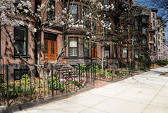 Elegant Back Bay apartments Royalty Free Stock Image