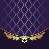 Elegant Backgound with golden floral Border Royalty Free Stock Photography