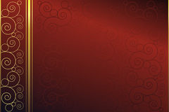 Elegant background. Red and golden background with swirls Stock Image