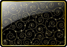 Elegant  background. With rounded corners. Swirl ornament,stars and background on separated layers,easy to edit Stock Image