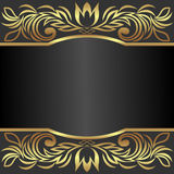 Elegant  Background decorated the golden royal Borders with Place for Text. Is presented Royalty Free Stock Photo