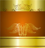 Elegant background design. An illustration of crown and classic column ideal for foster or print ads copy space Royalty Free Stock Image