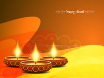 Elegant background design for diwali festival. With beautiful lamps. vector illustration Royalty Free Stock Images