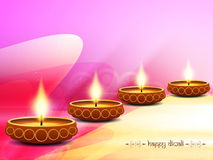 Elegant background design for diwali festival. With beautiful lamps. vector illustration Royalty Free Stock Photo