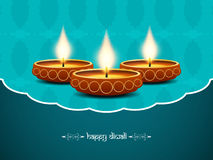 Elegant background design for diwali festival. With beautiful lamps. vector illustration