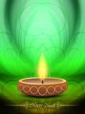 Elegant background design for diwali festival with. Vector illustration of elegant background design for diwali festival with beautiful lamp Royalty Free Stock Images