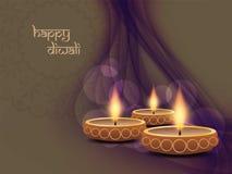 Elegant background design for diwali festival with. Vector illustration of elegant background design for diwali festival with beautiful lamp Stock Images