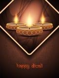 Elegant background design for diwali festival with. Vector illustration of elegant background design for diwali festival with beautiful lamp Royalty Free Stock Photo