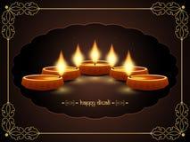 Elegant background design for diwali festival with. Vector illustration of elegant background design for diwali festival with beautiful lamp Royalty Free Stock Image