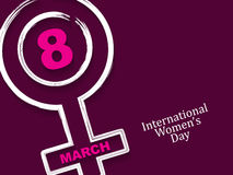 Elegant background design for International Women's Day. Stock Image
