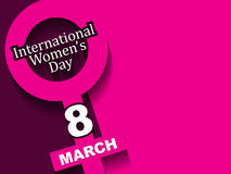 Elegant background design for International Women's Day. Royalty Free Stock Images