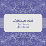 Elegant Background with floral Borders and Place for Text Stock Photo
