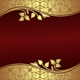 Elegant Background with floral golden Borders. Royalty Free Stock Photos