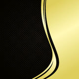Elegant background: gold and black. Stock Photos