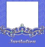 Elegant background with gold ornament with diamond jewelry jewelry, jewelry frame, Royalty Free Stock Photo