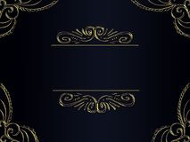 Elegant background with golden decor. And frame for text Royalty Free Stock Image