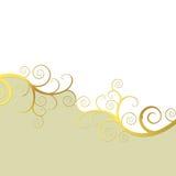 Elegant background with golden swirls. Elegant white and beige background with golden swirls Royalty Free Stock Photo