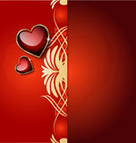 Elegant background with heart and ornaments Royalty Free Stock Photos