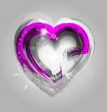 Elegant background with heart and ornaments Stock Images