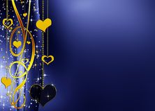 Elegant background with hearts Royalty Free Stock Photography