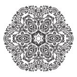 Elegant background with lace ornament. Circle lace ornament, round ornamental geometric doily pattern, christmas snowflake decoration Royalty Free Stock Photo