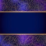 Elegant background with lace ornament. Elegant classic violet and gold background with lace ornament Royalty Free Stock Image