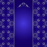 Elegant background with lace ornament Royalty Free Stock Images