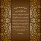 Elegant background with lace ornament Royalty Free Stock Photos