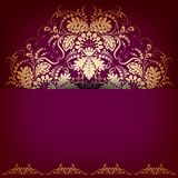 Elegant background with lace ornament. Royalty Free Stock Image