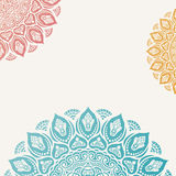 Elegant background with lace ornament. And place for text. Floral elements, ornate background, mandala. Vector illustration Stock Photo
