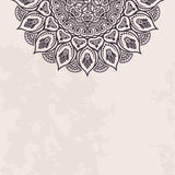 Elegant background with lace ornament. And place for text. Floral elements, ornate background, mandala. Vector illustration Royalty Free Stock Photos