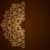 Elegant background with lace ornament vector illustration