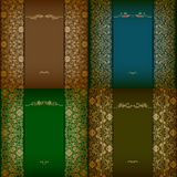 Elegant background with lace ornament Stock Photos