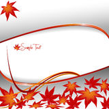 Elegant background with leaves. royalty free illustration