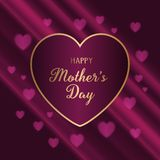 Elegant background for Mother`s Day. With hearts design stock illustration