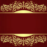 Elegant Background with royal golden Borders. Royalty Free Stock Image