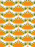Pattern yellow and green Royalty Free Stock Image