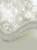 Elegant background with snowflakes. EPS 8 Royalty Free Stock Photography