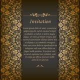 Elegant Background With Lace Ornament Royalty Free Stock Photography